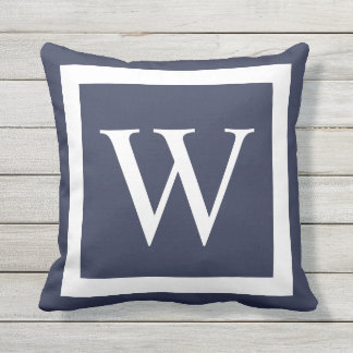 Giant Monogram on Any Color Background Throw Pillow