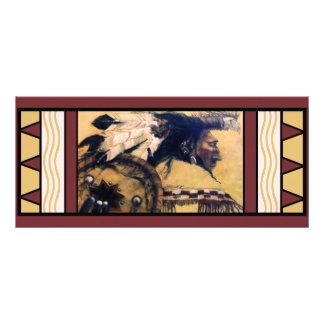 Giant Native American Painting Bookmark Rack Card