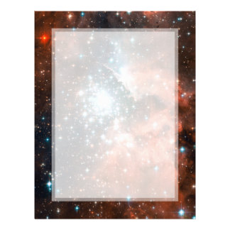 Giant Nebula Star Cluster Space Flyer