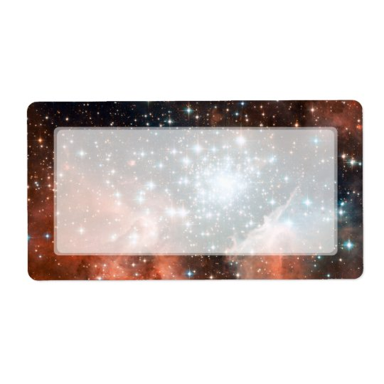 Giant Nebula Star Cluster Space Label