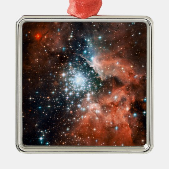 Giant Nebula Star Cluster Space Metal Ornament