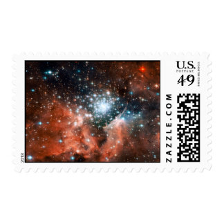Giant Nebula Star Cluster Space Stamps