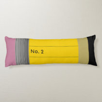 Giant No. 2 Pencil Body Pillow - Personalize It!