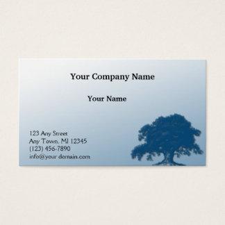 Giant Oak on a Field of Blue Business Card