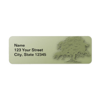 Giant Oak on a Field of Green Return Address Label