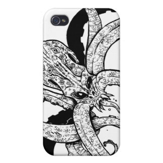 Giant octopus iphone iPhone 4 cases