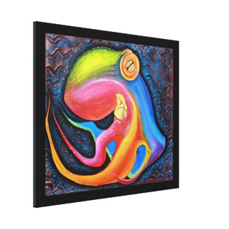 Giant Octopus Stretched Canvas Print
