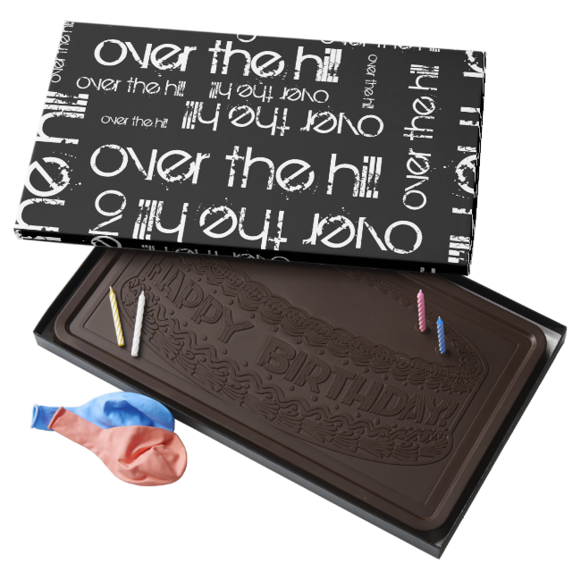 Giant Over the Hill 2 Pound Dark Chocolate Bar Box
