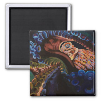 Giant Pacific Octopus 2 Inch Square Magnet