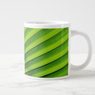 Giant Palm Leaf Pattern Giant Coffee Mug