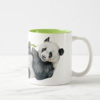 Giant Panda Adolescent Two-Tone Coffee Mug