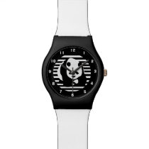 Giant Panda and Stripes Wristwatch