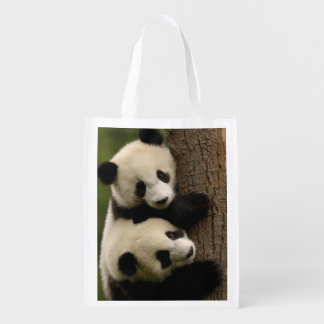 Giant panda babies (Ailuropoda melanoleuca) 2 Grocery Bag