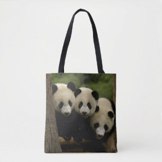 Giant panda babies Ailuropoda melanoleuca) 3 Tote Bag