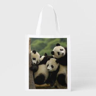 Giant panda babies Ailuropoda melanoleuca) 4 Grocery Bag