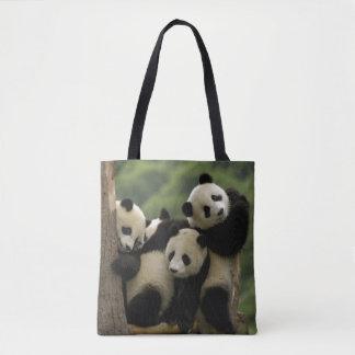 Giant panda babies Ailuropoda melanoleuca) 4 Tote Bag
