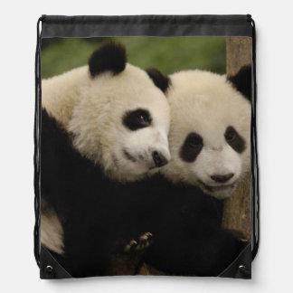 Giant panda babies Ailuropoda melanoleuca) 8 Drawstring Bag