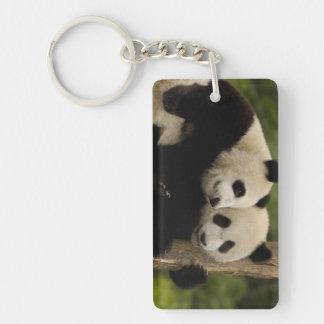 Giant panda babies Ailuropoda melanoleuca) 8 Double-Sided Rectangular Acrylic Keychain