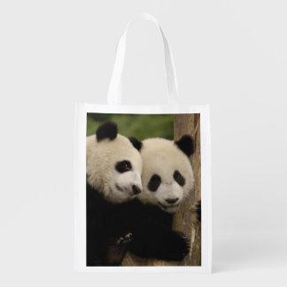 Giant panda babies Ailuropoda melanoleuca) 8 Reusable Grocery Bag