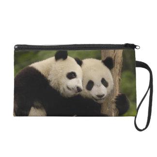 Giant panda babies Ailuropoda melanoleuca) 8 Wristlet Purse