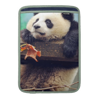 Giant panda baby over the tree MacBook air sleeve