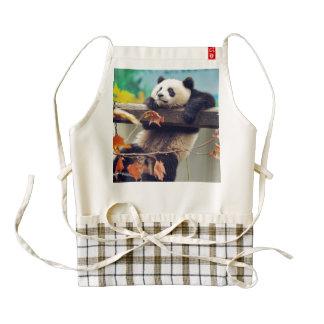Giant panda baby over the tree zazzle HEART apron