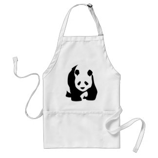 Giant Panda Bear Adult Apron