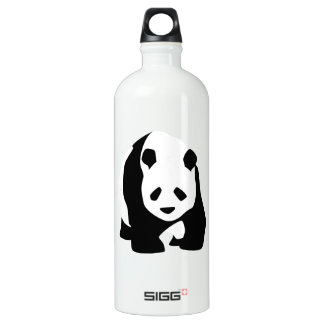 Giant Panda Bear Aluminum Water Bottle