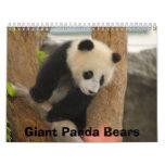Giant Panda Bear Calendar, Giant Panda Bears