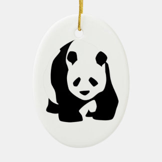 Giant Panda Bear Ceramic Ornament