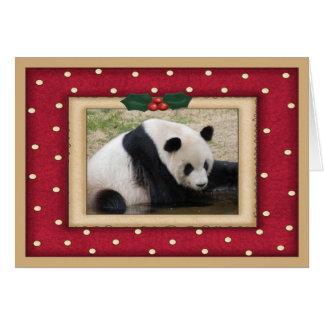 Giant Panda Bear Christmas card