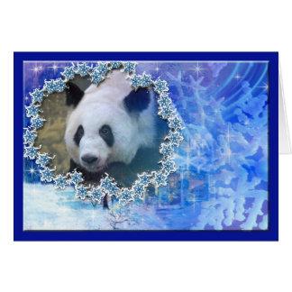 Giant Panda Bear Christmas Greeting Card