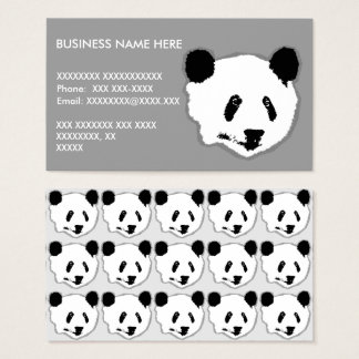 Giant Panda Bear Face Business Card