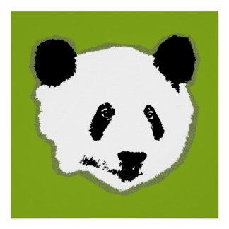 Giant Panda Bear Face Poster