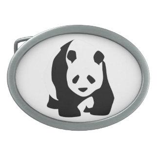 Giant Panda Bear Oval Belt Buckle
