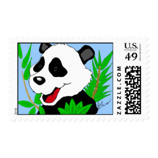 Giant Panda Bear Postage Stamps