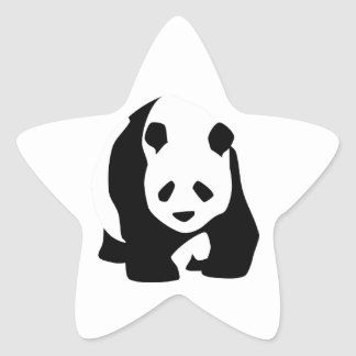 Giant Panda Bear Star Sticker