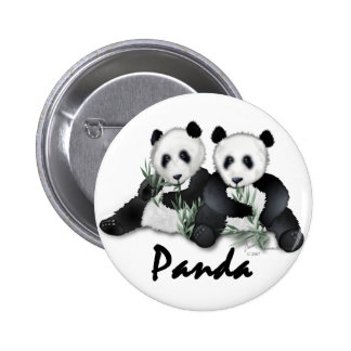 Giant Panda Bears 2 Inch Round Button