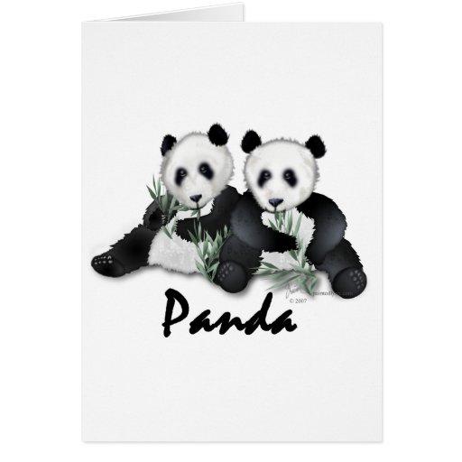 Giant Panda Bears Greeting Cards