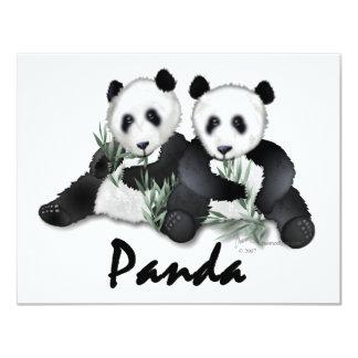 Giant Panda Bears 4.25x5.5 Paper Invitation Card