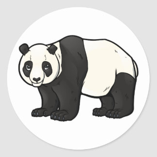 Giant Panda Classic Round Sticker