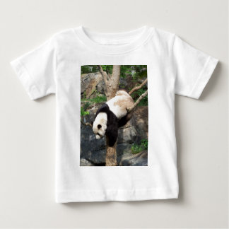 Giant Panda Climbing Down Tree Baby T-Shirt