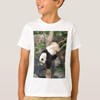 Giant Panda Climbing Down Tree T-Shirt