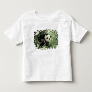 Giant Panda cub climbs a tree, Wolong Valley, Toddler T-shirt