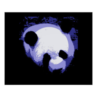 Giant Panda Face Poster Print - Panda Posters