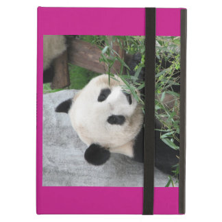 Giant Panda, Hot Pink, Personalized Folio Cover For iPad Air