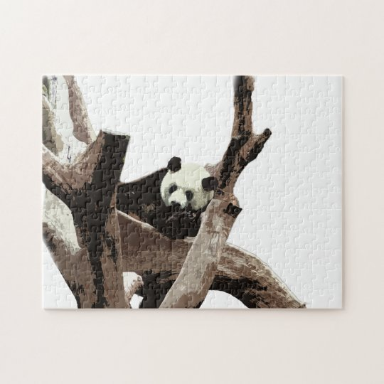 Giant panda in a wild animal zoo photography. jigsaw puzzle
