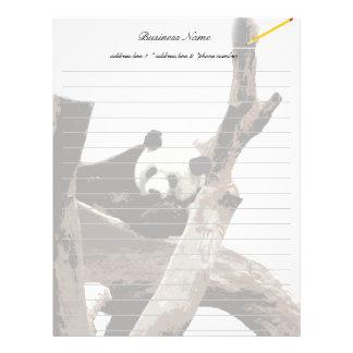 Giant panda in a wild animal zoo photography. letterhead