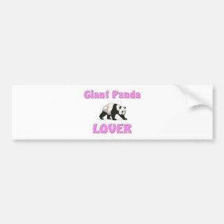 Giant Panda Lover Car Bumper Sticker