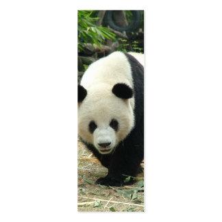 Giant panda mini bookmark business card templates